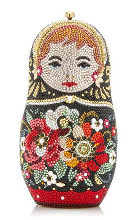 Russian Doll Crystal Novelty Clutch By Judith Leiber Couture | Moda Operandi