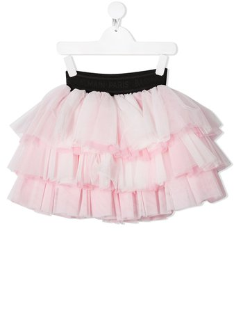 Shop pink Balmain Kids triple-tiered tutu skirt with Express Delivery - Farfetch