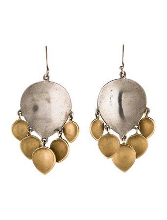 Me&Ro Two-Tone Gypsy Lotus Earrings - Earrings - MRO21740 | The RealReal