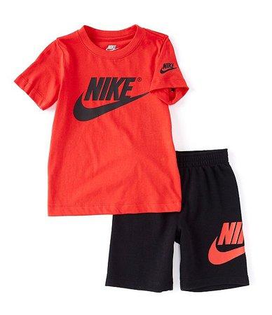 Nike Little Boys 2T-7 Short-Sleeve Futura Tee & Shorts Set | Dillard's