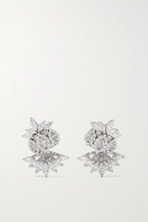 White gold 18-karat white gold diamond earrings | YEPREM | NET-A-PORTER