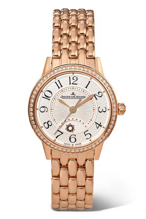 Jaeger-LeCoultre | Rendez-Vous Night & Day 29mm small rose gold and diamond watch | NET-A-PORTER.COM