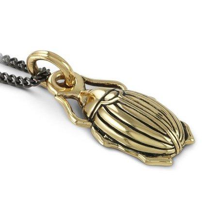 Lost Apostle Bronze Scarab Beetle Necklace