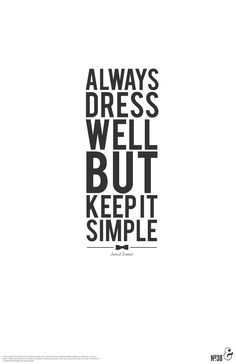 Dress Simple Quote