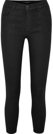 Alana Coated High-rise Skinny Jeans - Black