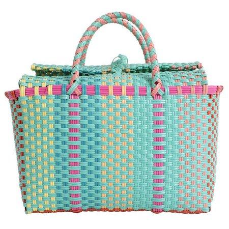 Capacity Heavy Duty Handmade Woven Pp Plastic Handbag Summer Beach Basket Bag Green Plaid Checks Teacher Tote Shopping Bag Leather Backpack Clutch Bags From Keroyeah, kn143.56| DHgate.Com