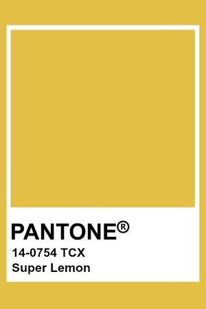 Pantone Super Lemon Color