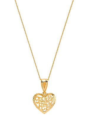 The Te Amo Heart Pendant Necklace