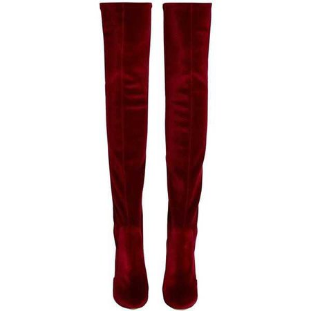 Aquazzura Over-the-knee velvet boots ($895)