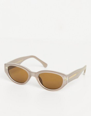 womens slim oval sunglasses