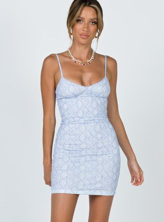 Esther Mini Dress Blue