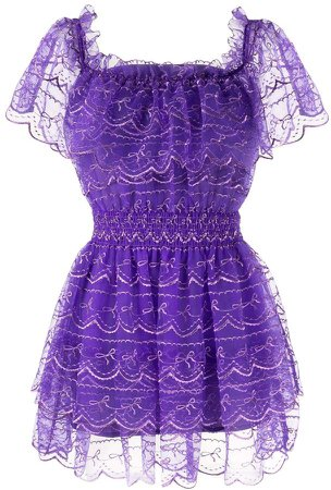 Satellite Of Love frilled mini dress