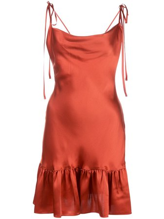 Cynthia Rowley Juliet Charmeuse Slip Dress
