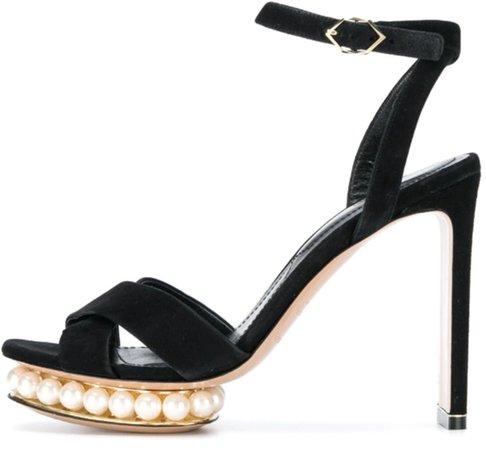 Casati Pearl Platform Sandal in Black