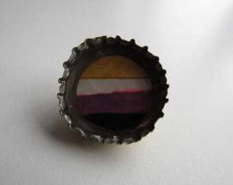nonbinary bottle cap pin