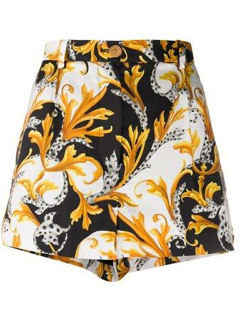 Versace Baroque Print Shorts - Farfetch