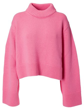 Celine Oversized Sweater In Hot Pink