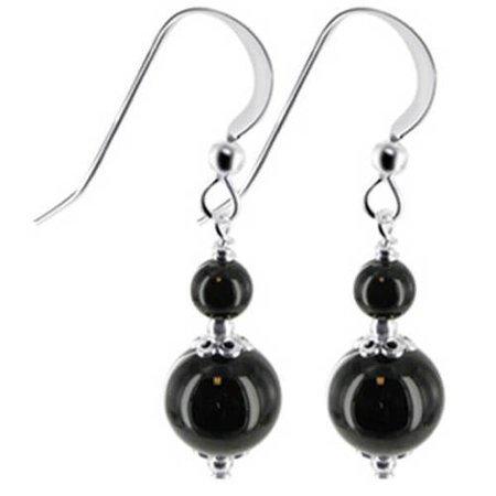 black bead earrings - Google Search