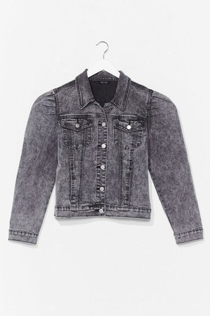 Puff Shoulder Denim Jacket | Nasty Gal