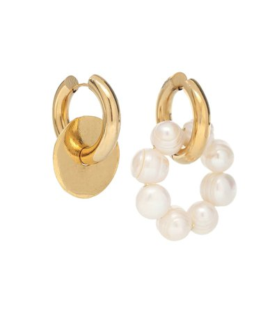 Mismatched 24Kt Gold-Plated And Faux Pearl Hoop Earrings - Timeless Pearly | Mytheresa