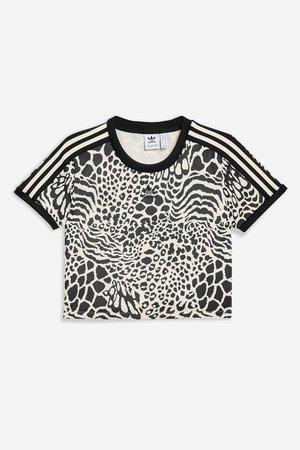 Leopard Print Three Stripe T-Shirt by adidas - Topshop USA
