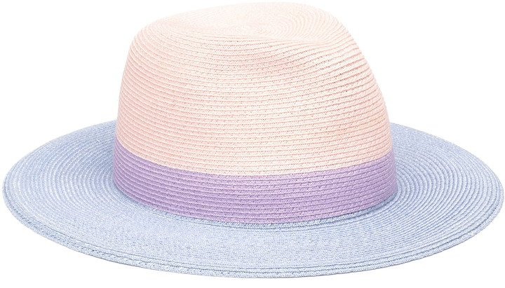 Courtney Colorblock Packable Fedora