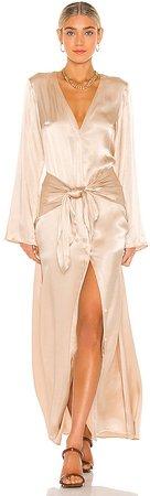 Silky Tie Front Dress