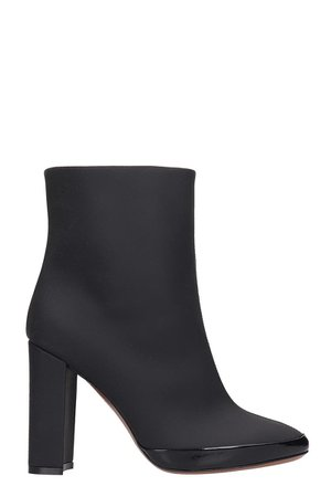 LAutre Chose Ankle Boots In Black Rubber/plasic