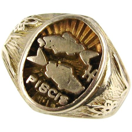 Pisces Spanish Gold Ring
