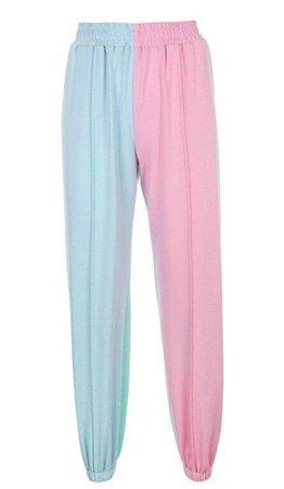 Pink Blue Splice Joggers