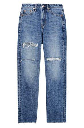 Topshop Sofia Ripped Straight Leg Jeans (Regular & Petite) | Nordstrom