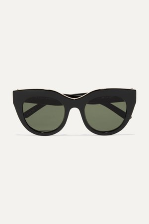 Le Specs | Air Heart cat-eye acetate and gold-tone sunglasses | NET-A-PORTER.COM