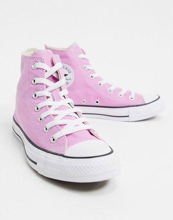 Converse chuck taylor all star hi pink sneakers | ASOS