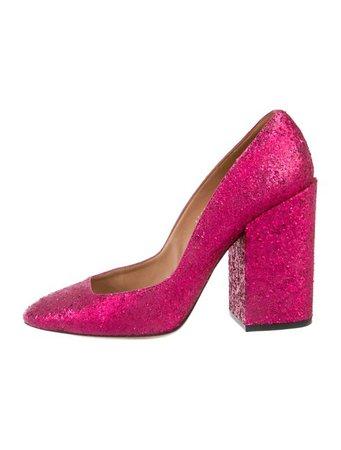 Dries Van Noten Glitter Round-Toe Pumps - Shoes - DRI57667 | The RealReal