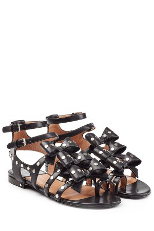 Embellished Leather Sandals with Bows Gr. IT 36