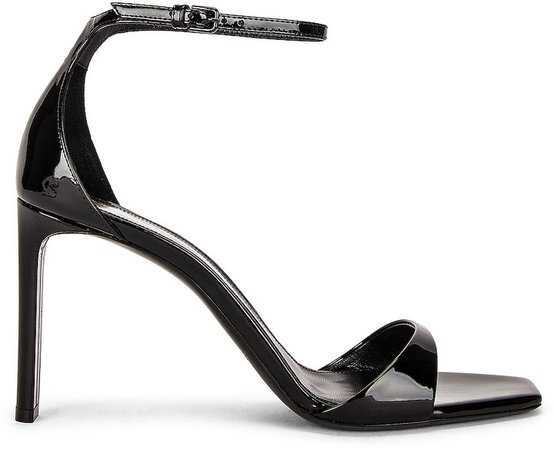 Bea Satin Sandals in Noir | FWRD