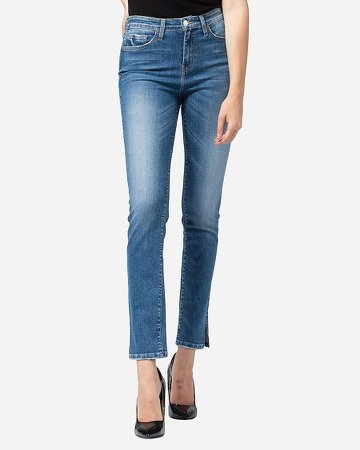 Flying Monkey High Waisted Slim Straight Ankle Jeans