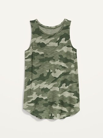 Luxe Printed High-Neck Tank Top for Women | Old Navy