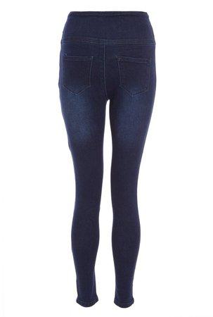 *Quiz Blue High Waist Skinny Denim Jeans
