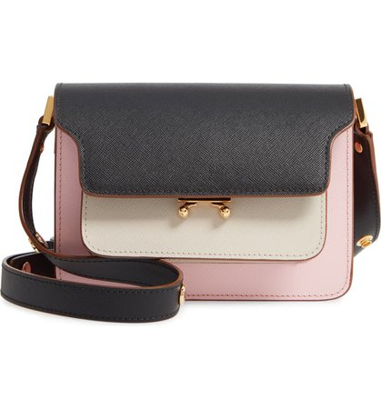 Marni Small Trunk Colorblock Leather Shoulder Bag | Nordstrom