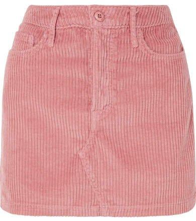 Zamira Cotton-blend Corduroy Mini Skirt - Pink