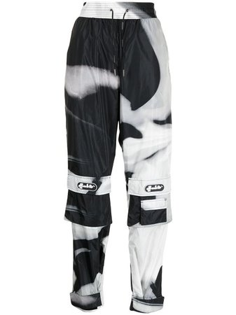 black Off-White Liquid Melt cargo trousers
