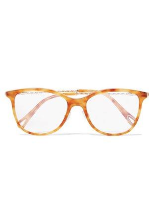 Chloé | Cat-eye tortoiseshell acetate and gold-tone optical glasses | NET-A-PORTER.COM