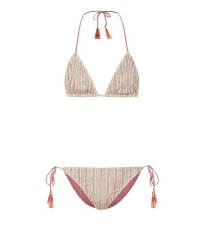 Striped Metallic Knit Bikini | Missoni Mare - Mytheresa