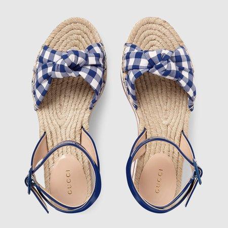 Patent leather platform sandal - Gucci Women's Sandals 4975970B9504576