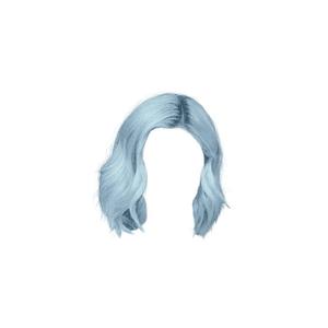 blue doll hair png