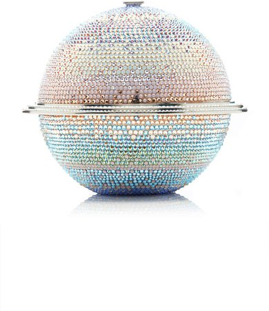 Couture Saturn Sphere Crystal Clutch