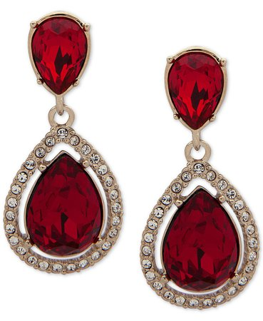 Givenchy Stone & Crystal Teadrop Halo Drop Earrings - Fashion Jewelry - Jewelry & Watches - Macy's