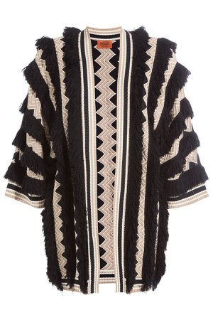 Fringed Cardigan with Wool Gr. IT 44