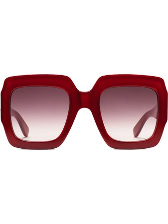 Gucci Eyewear Square-Frame Sunglasses 491426J0740 Red | Farfetch